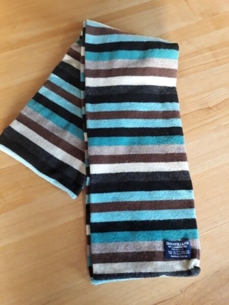 DEHAVILLAND Wool Multicoloured Striped Scarf Men's Winter Scarf