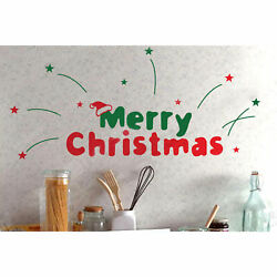 Christmas Vinyl Decals Wall Stickers Words Quote Christmas Decorations