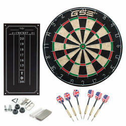 Kyпить Professional Regulation Size Bristle Dart Board with Chalk Scoreboard & 6 Darts на еВаy.соm