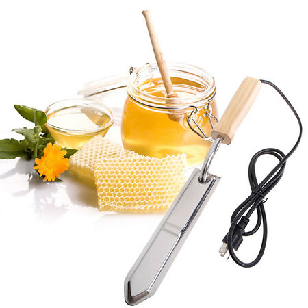img-Electric Scraping Honey Extractor Uncapping Hot Knife Beekeeping Equipment NEW