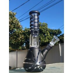 Kyпить 9'' Hookah Glass Water Pipe Bong Thick Bubbler W Percolator Beaker Black на еВаy.соm