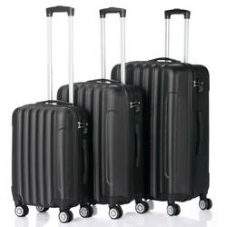 Kyпить 3 Pcs Luggage Travel Set Bag ABS Trolley Suitcase w/TSA Lock Black на еВаy.соm