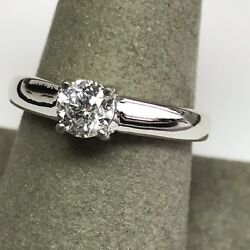 0.55 carat Diamond Solitaire Engagement Ring in 14k white gold WAS $3,500.00