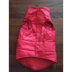 Martha Stewart Red Dog Jacket Small Breed Lined Size XL - 100% Polyester