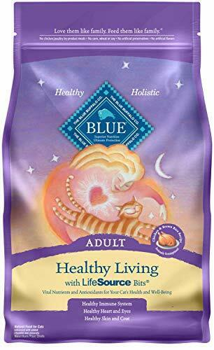 Blue Buffalo Healthy Living Natural Adult Dry Cat Food, Chicken & Brown Rice 7-l