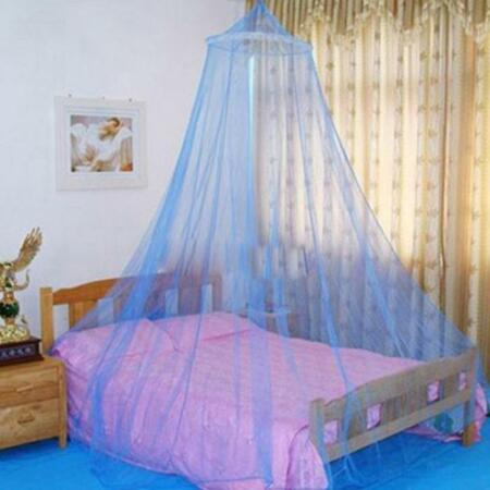 img-Blue Mosquito Net Fly Insect Protection Single Entry Double King Size Bed Canopy