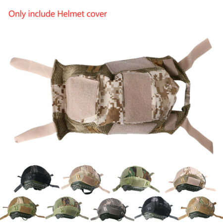 img-Tactical Helmet Nylon Mesh Cover for Softair Paintball CS Game Military Outdoor