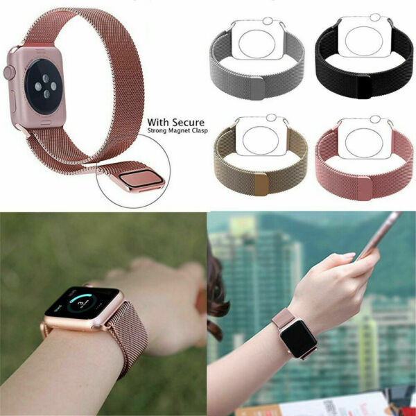 Magnétique Stainless Steel Sangle Apple Watch Bracelet 38/42mm pour Apple iWatch