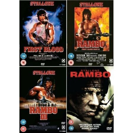 img-RAMBO Complete Collection All Movies Collection Part 1 2 3 4 First Blood UK DVD