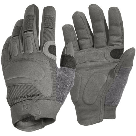 img-Pentagon Karia Gloves Suede Leather Suede Knuckle Protection Grip Wolf Grey