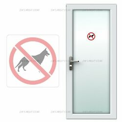 No Dogs Allowed 2 Pcs Signal Wall Vinyl PVC Sticker Waterproof Removable Decals