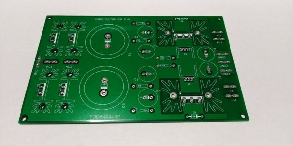 diy pcb alimentatore duale capacitor multiplier  power supply for amplifier