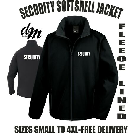 img-SECURITY SOFTSHELL JACKET BODYGUARD DOORMAN SIZES S-4XL PRINTED FRONT & BACK