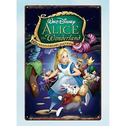 - lodge cafe wall plaque Alice in Wonderland metal tin sign