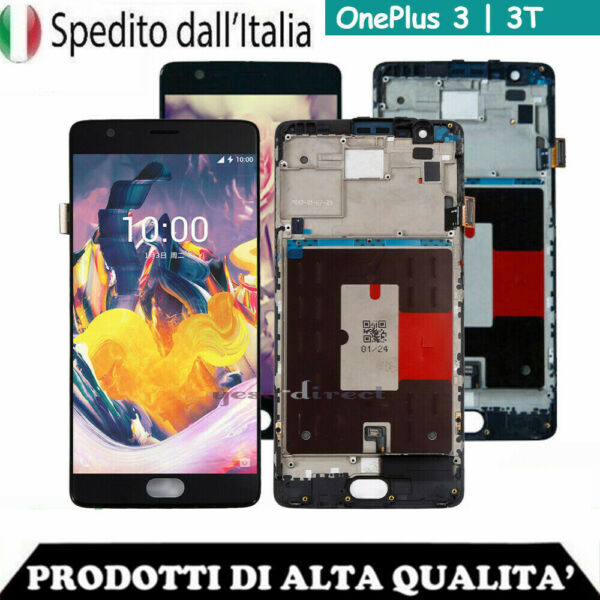 PER ONEPLUS 3 3T A3000 A3003 A3010 LCD DISPLAY SCHERMO VETRO TOUCH SCREEN +FRAME