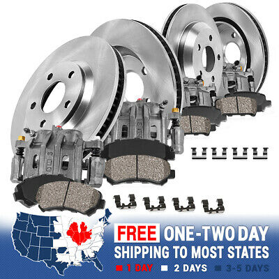 Front+Rear OE Brake Calipers & Rotors & Pads For Sebring Avenger Compass Patriot