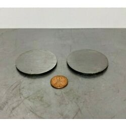 1/8'' Steel Plate, Disc Shaped, 2'' Diameter, A36 Steel, Round, Circle 2 PC LOT