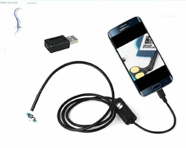 SONDA ENDOSCOPICA TELECAMERA ISPEZIONE MICRO USB ANDROID PC 1,5MT 6 LED OTG IP66
