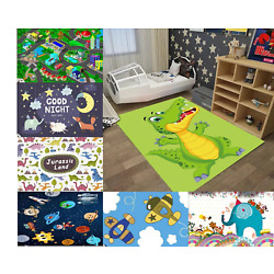 5' X 7' LARGE CLASSROOM/BEDROOM KIDS AREA PLAYFUL RUG IN ASSORTED DESIGNS NEW