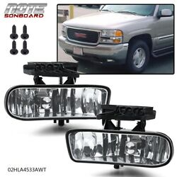 Kyпить Clear Fog Lights Bumper Lamps W/Bulbs For GMC 99-02 Sierra / 01-06 Yukon на еВаy.соm