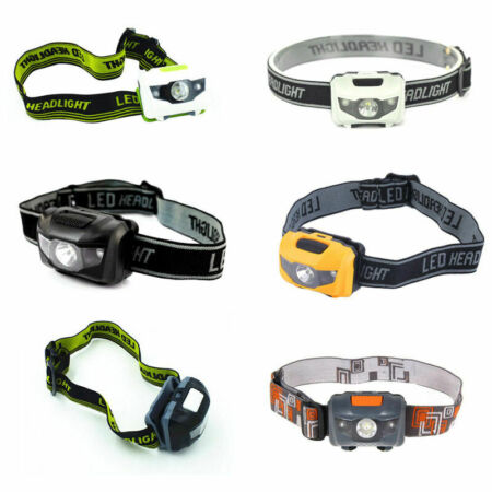 img-LED 900LM Mini Headlight Bright Headlamp Flashlight Hiking Torch Lamps Supp H4O4