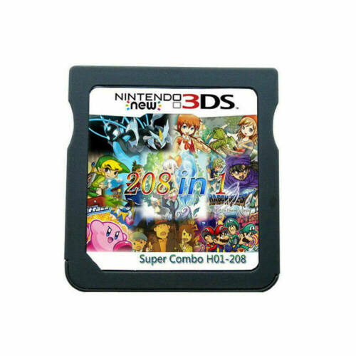 208 in1 Games Cartridge Multicart For Nintendo DS NDS NDSL NDSI 2DS 3DS US Stock
