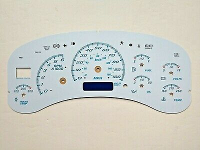 White Gauge Face Overlay for 1999-2002 Silverado Sierra & GM Instrument Clusters