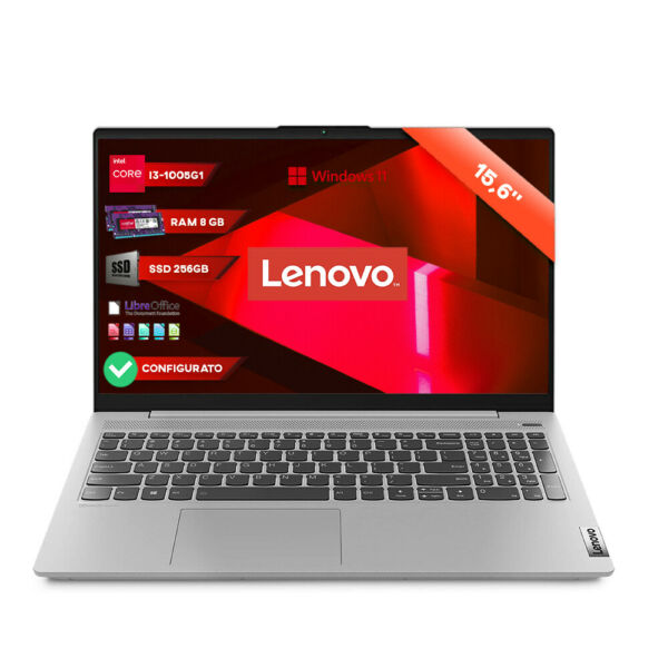 Notebook Lenovo Silver pc portatile 15,6