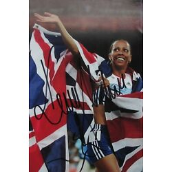 KELLY HOLMES  6 x 4 Hand Signed Photo Autograph