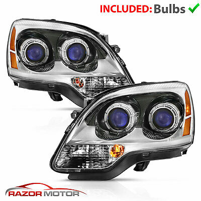 For 07-12 GMC Acadia FACTORY OE REPLACEMENT Chrome Projector Headlights Assembly