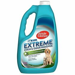 Simple Solution Extreme Pet Stain and Odor Remover | Enzymatic Cleaner with 3X P