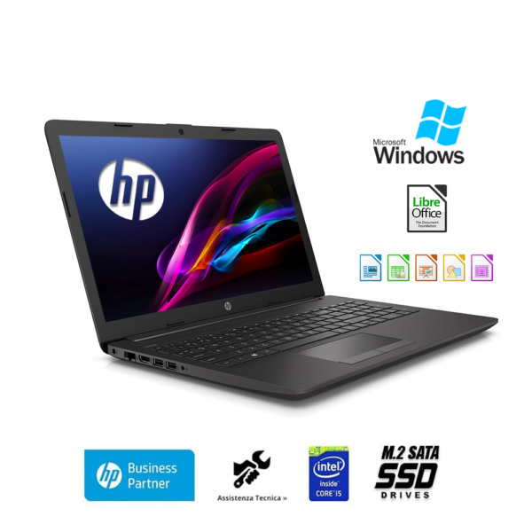 Notebook Hp 250 G7 portatile intel i5 8265U,Ram 8Gb,Ssd M.2 500Gb,Windows 10 Pro