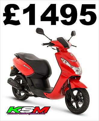 BRAND NEW 2020 PEUGEOT KISBEE 50 SCOOTER FLAT RED **SALE**