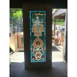 Kyпить BEAUTIFUL HAND MADE STAINED GLASS VICTORIAN STYLE ENTRY DOOR - JHL2167-102 на еВаy.соm