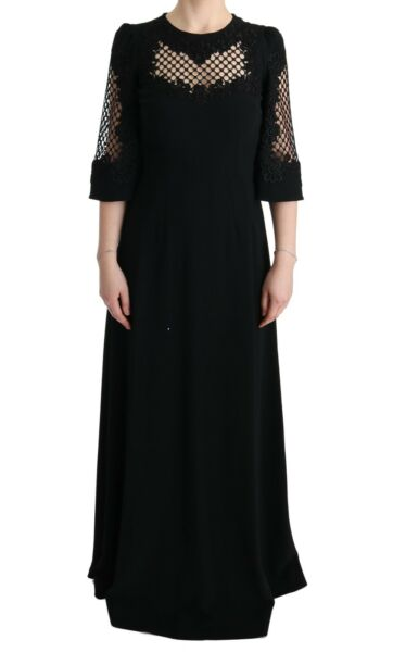 SuèdeNEW DOLCE & GABBANA Dress  Stretch Shift Long Maxi Gown s. IT38 / US4