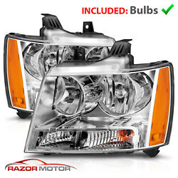 Kyпить 2007-14 Replacement Chrome Headlight Pair for Chevy Avalanche Subarban Tahoe на еВаy.соm