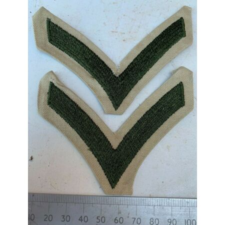 img-Pair of USMC United States Marine Corps Army Rank Chevrons - Private First Class