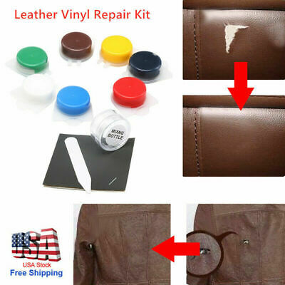 NEW No Heat Liquid Leather & Vinyl Repair Kit Fix Holes Burns Rips Gouges