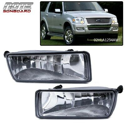 Fog Light Set For 2006-2010 Ford Explorer 08-10 Explorer Sport Trac Front 2Pcs