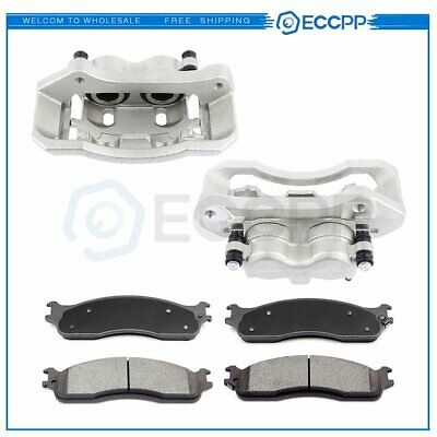 Front Brake Calipers And Ceramic Pads For Dodge Ram 1500 2500 3500 2006-2008