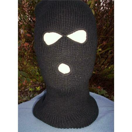 img-BLACK 3 HOLE BALACLAVA PARA MILITARY SAS SWAT ARMY HAT LARP AIRSOFT