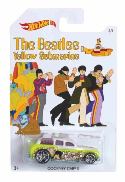 Royaume-UniHot Wheels The Beatles Jaune sous-Marin Séries - Cockney Cab II 2/6 Modèle