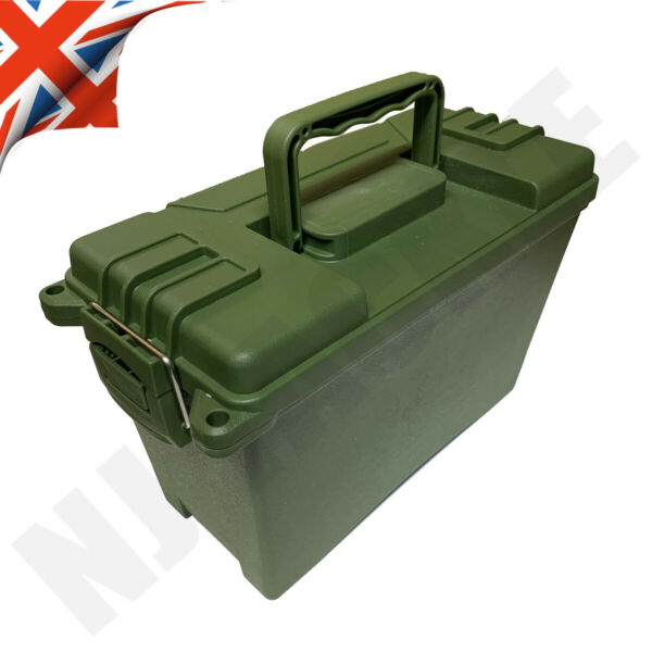 AMMO BOX / STACKABLE AMMO STORAGE BOX FIELD BOX TOOL BOX RUGGED PLASTIC