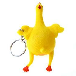 Tricky Funny Gadgets Toys Squeeze Chicken Egg Laying Hens Stress Relief