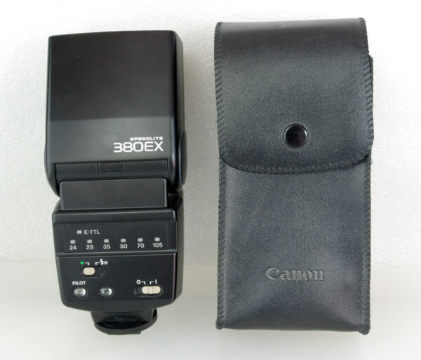 Canon 380EX Speedlite E-TTL Flashgun for Canon Digital, Fully Working, Case