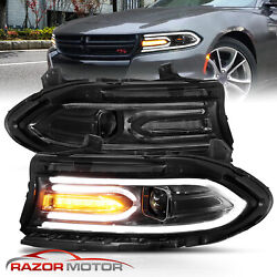Kyпить For 2015-2020 Dodge Charger Dual LED Tube Square Beam Projector Headlights Pair на еВаy.соm