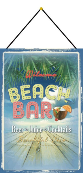 AllemagneBeach BAR Beer s Shield with Cord Metal Tin Sign 20 X 30 CM CC1048-K
