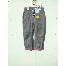 Boys Cat & Jack Tapered Flexible Drawstring Lined  Pants Sz 5T Gray Color NEW!