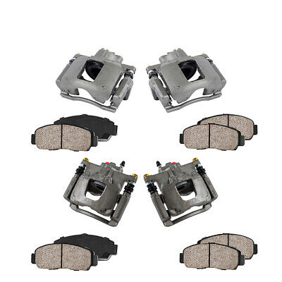 Front Rear Brake Calipers Pads For 2008 2009 2010 2011 2012 NITRO JEEP LIBERTY