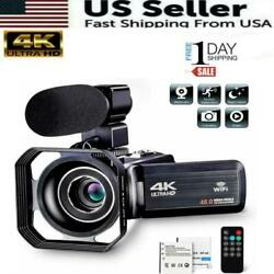 Kyпить Camcorder Video Camera Ultra HD 4K 48MP Camcorder Camera with Microphone & Remot на еВаy.соm